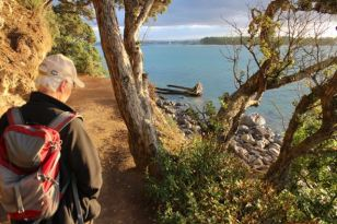 At the end of Day 1 we managed to fit in a walk around Mount Manganui