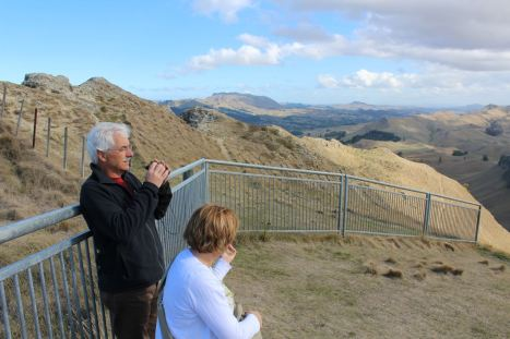 Catching the big views from Te Mata Peak